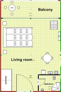 tlocrt-studio-apartman